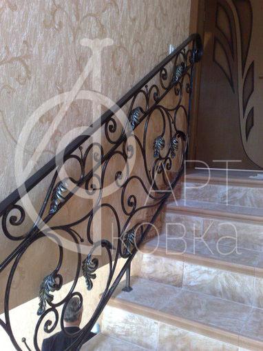 Кованые перила для лестниц Дубовый лист 42
