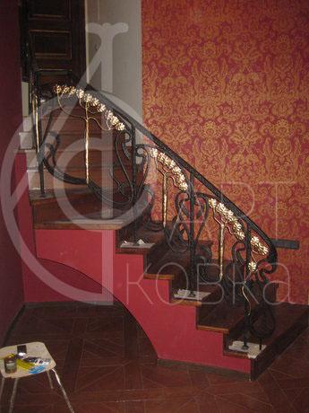 Кованые перила для лестниц Золотое Древо 44