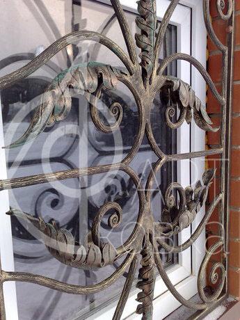 Кованые решетки на окна Дубовый Лист 10