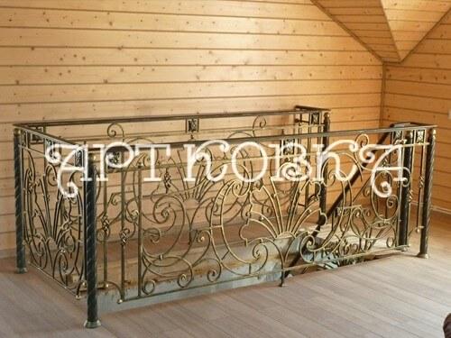 Кованые ограждения балконов Марта