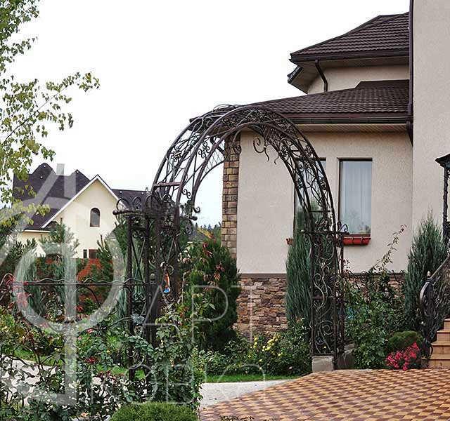 Кованая арка Вера 9
