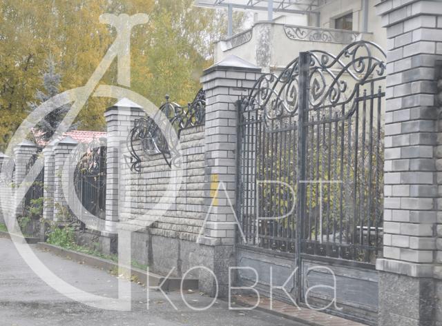 Кованые ворота Брума