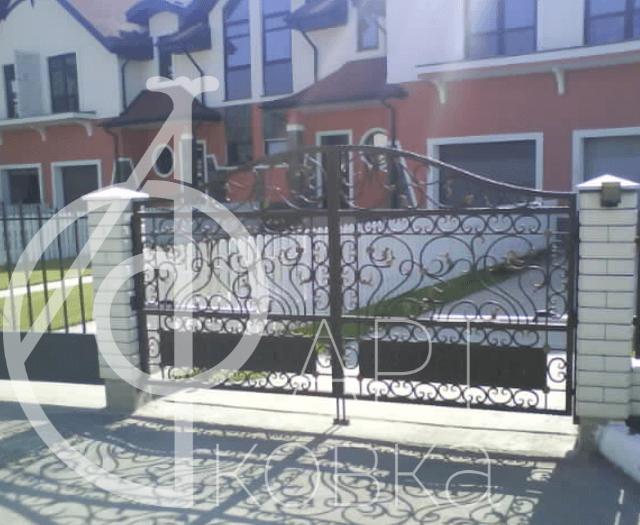 Кованые ворота Калибри