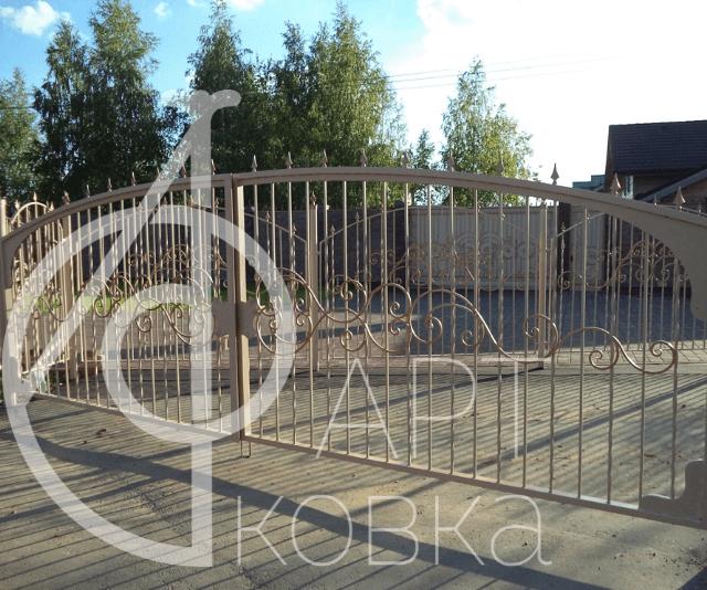 Кованые ворота Риолис