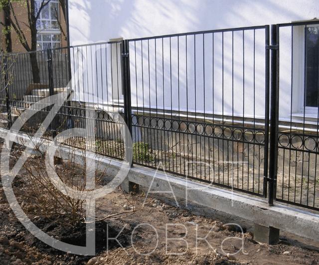 Кованый забор Алма 57