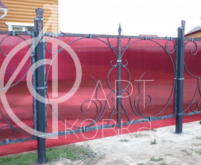 Кованый забор Перпл 58