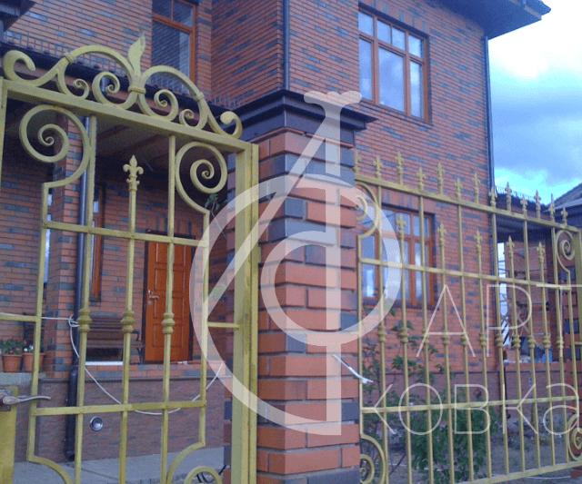 Кованый забор Тейн