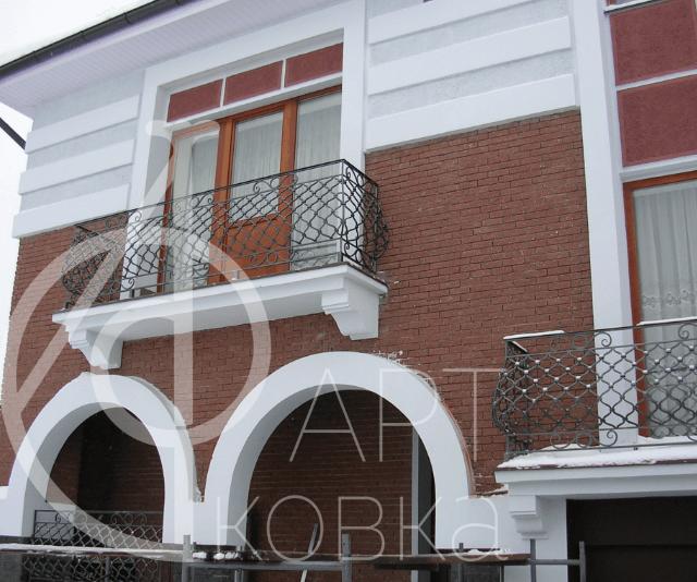 Кованое ограждение для балконов Лампаж