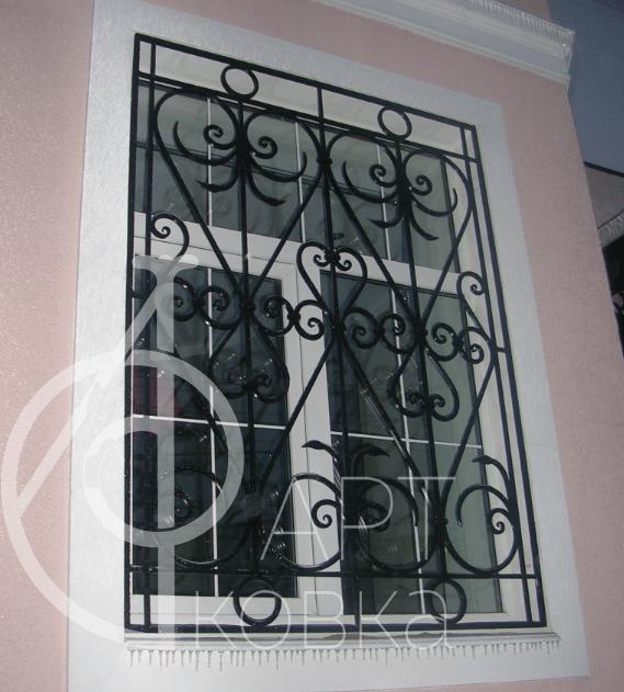 Кованые решетки на окна Элаиса