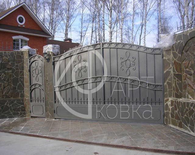 Кованые ворота Корифей 05
