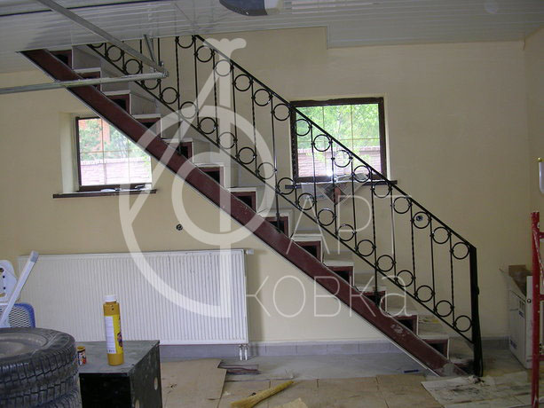 Кованые перила для лестниц Адамант 38