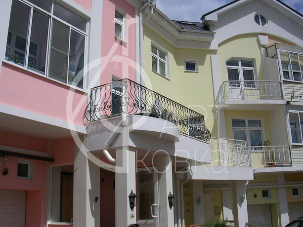 Кованые ограждения балконов Каллен 22