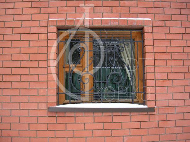 Кованые решетки на окна Лютик 12