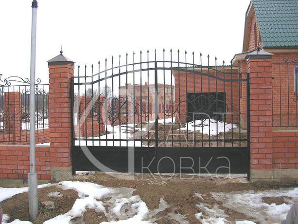 Кованые ворота Кристалл 06