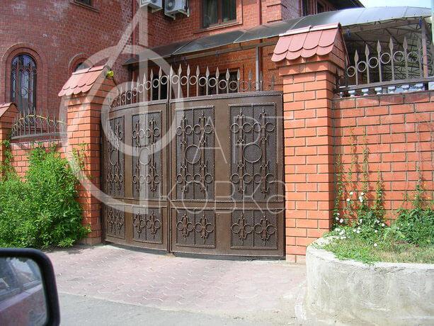 Кованые ворота Тали 07
