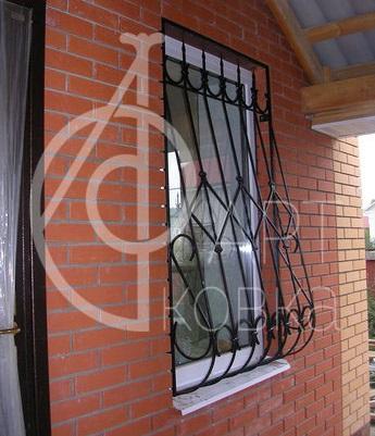 Кованые решетки на окна Ромб 16
