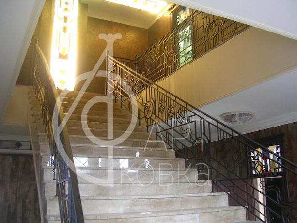 Кованые перила для лестниц Двемер 40