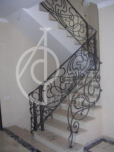 Кованые перила для лестниц Змий 43