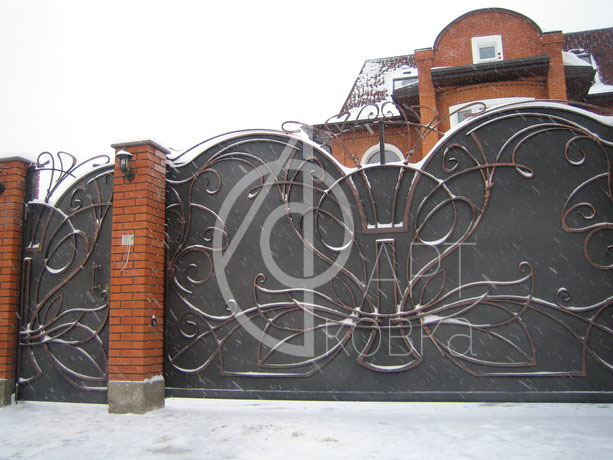 Кованые ворота Лабиринт 49