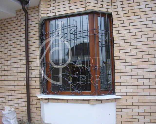 Кованые решетки на окна Линия