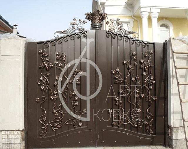 Кованые ворота Дриада