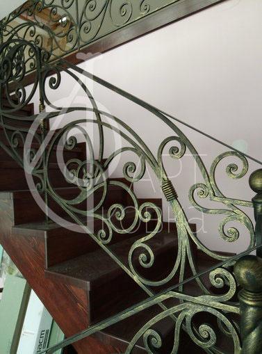 Кованые перила для лестницы Димаш