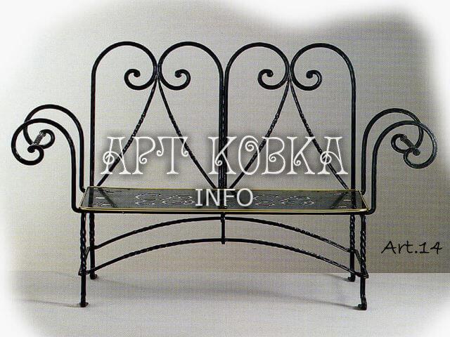 Кованая скамейка Дуэт