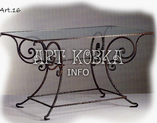 Кованый стол Камилла Арт