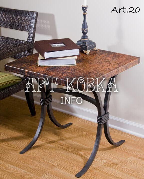 Небольшой кованый столик Сонет