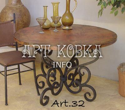 Кованый столик Лира
