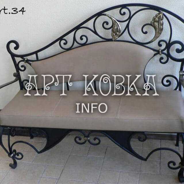 Кованая скамейка Элизабет