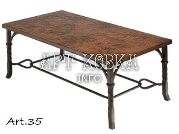 Кованый стол Ржа
