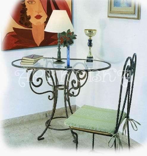 Кованый стол и стул Марлен