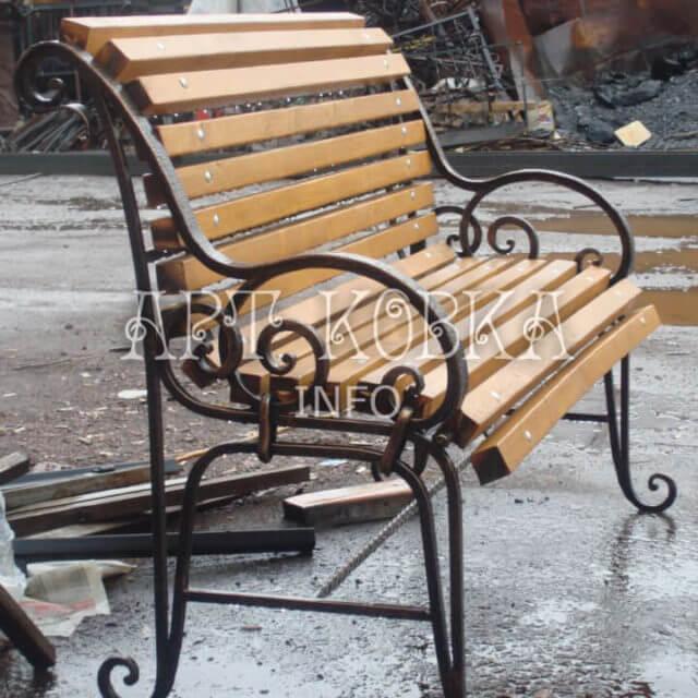 Кованая скамейка Элегия