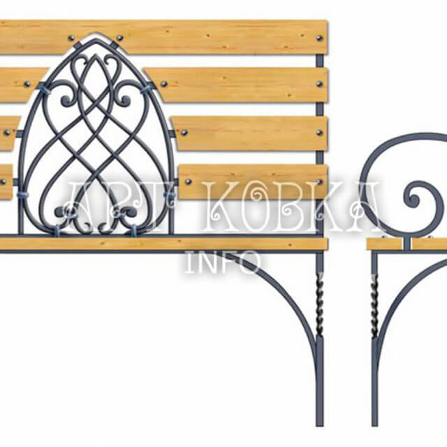 Кованая скамейка Витраж