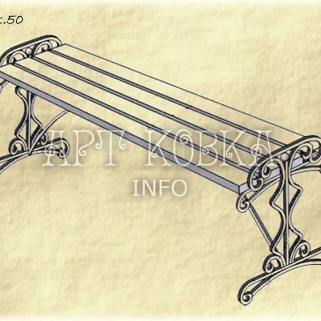 Кованая лавочка Тиана