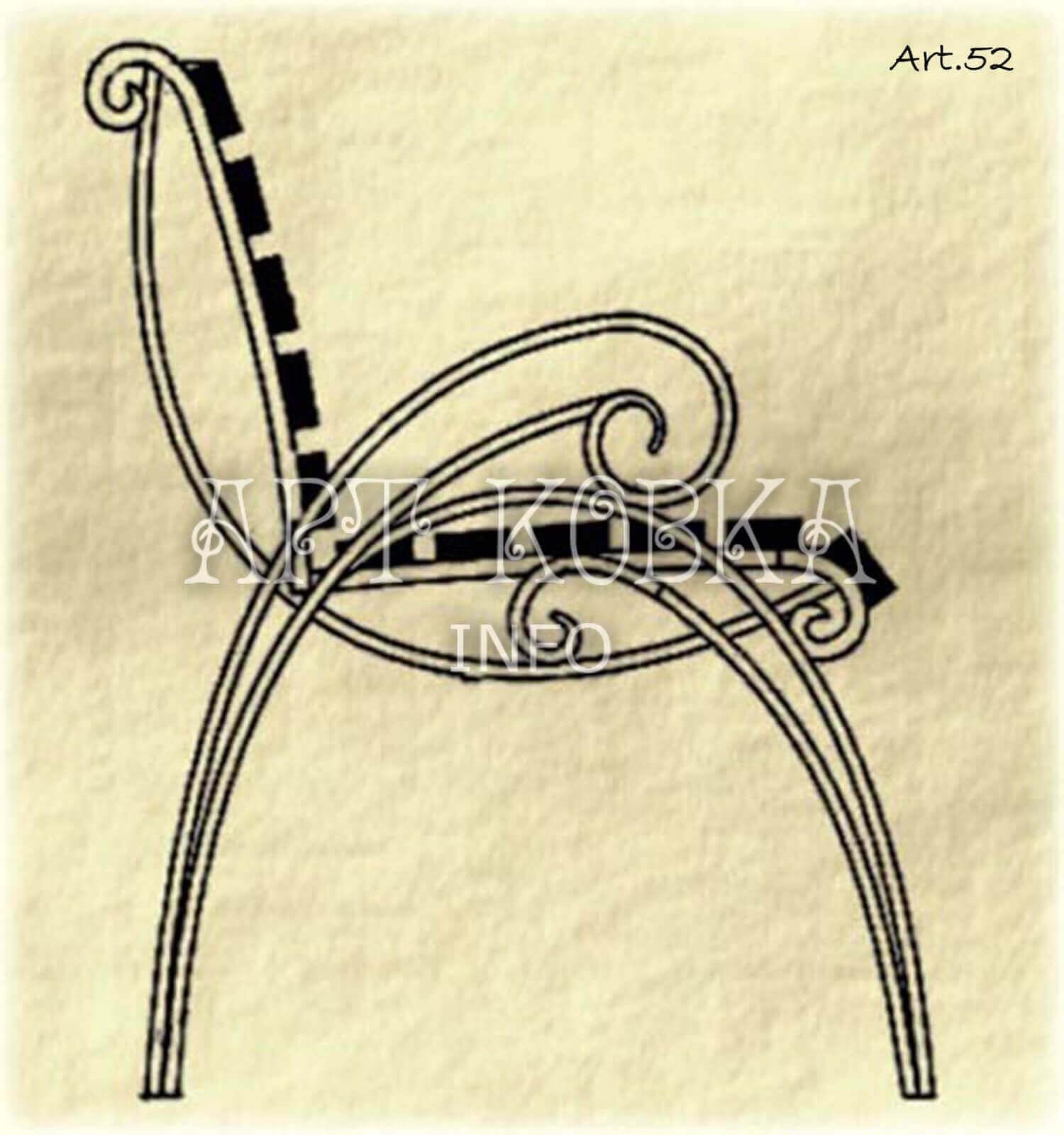 Эскиз кованой скамейки Руала