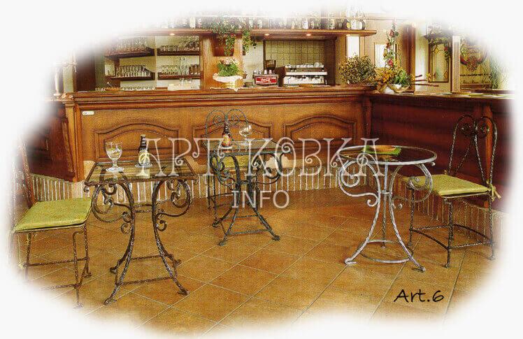 Кованые стулья для дачи, для сада, для кафе Элементс