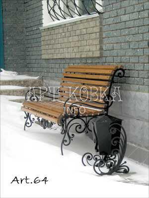 Кованая скамейка Алисия