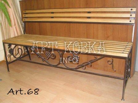 Кованая скамейка Ирия