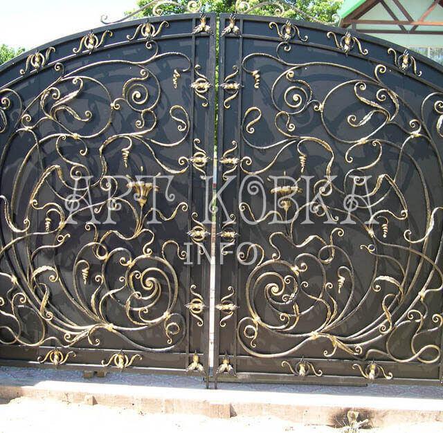 Кованые ворота Маделен