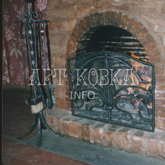 Кованые каминные аксессуары Диковинка