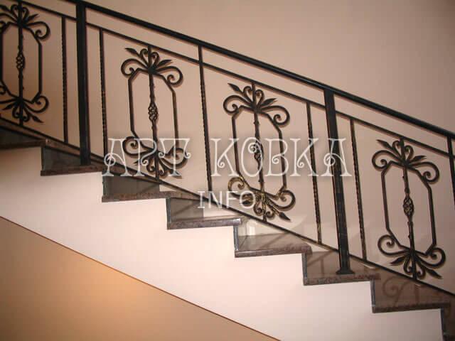 Простые кованые перила для лестниц Курон