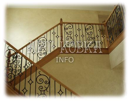 Классические кованые перила для лестниц Алария