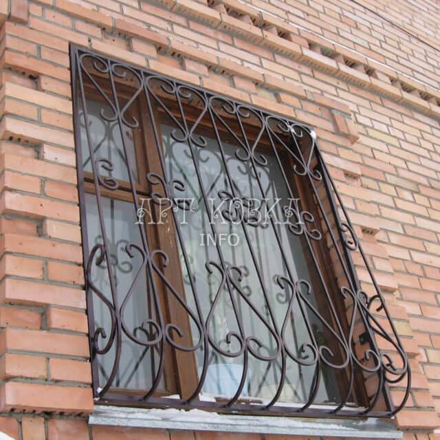 Кованые решетки на окна Изара