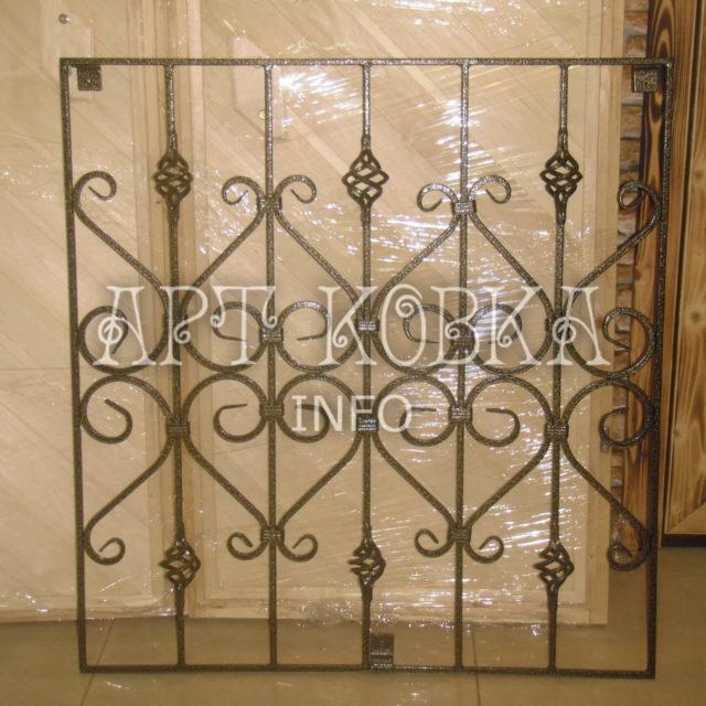 Кованые решетки на окна Жалин