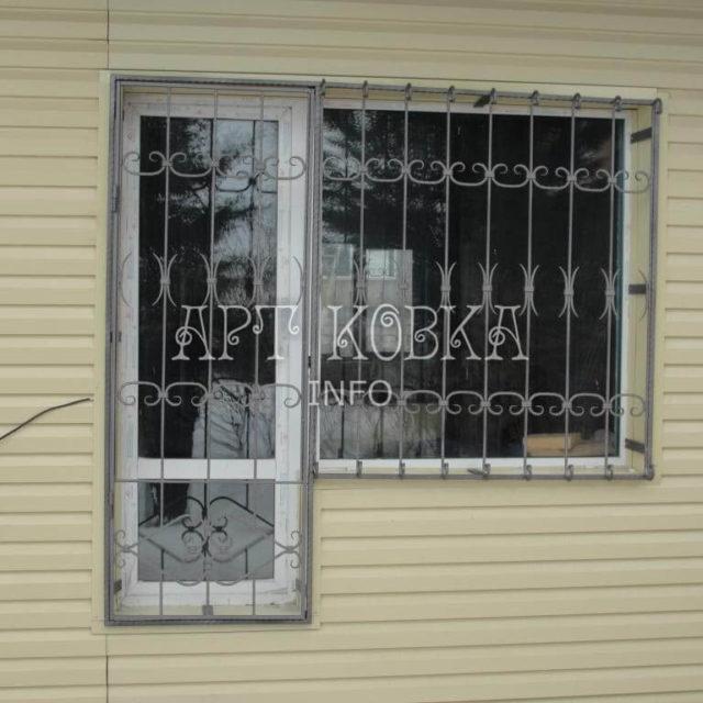 Кованые решетки на окна Шварц