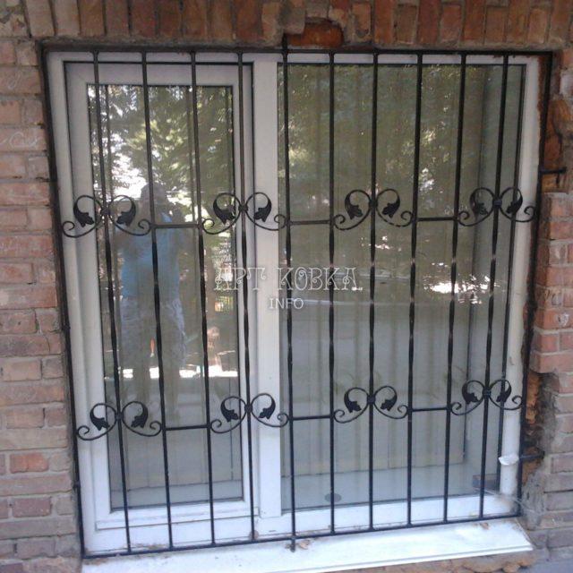 Кованые решетки на окна Краст