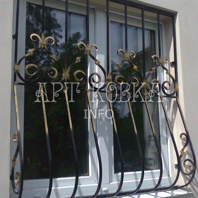 Кованые решетки на окна Шерил