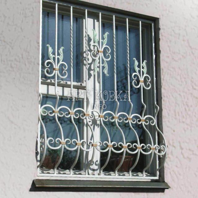 Кованые решетки на окна Аника